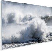 Golven breken tegen de kust van Ijsland Plexiglas 90x60 cm - Foto print op Glas (Plexiglas wanddecoratie)