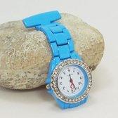 verpleegster horloge Strass- licht  blauw