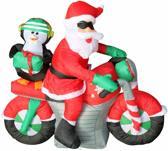 Opblaasbare kerstman op motor met laagspanning LED verlichting en transformator -  120 cm hoog