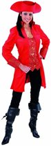 Musketier Kostuum | Mantel En Vest Gave Gravin Rood Vrouw | Medium | Carnaval kostuum | Verkleedkleding