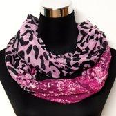 Zomer sjaal roze panter / luipaard print / Ronde col shawl