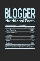 Blogger Nutritional Facts