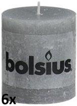 Bolsius Stompkaars 80/68 rustiek Lichtgrijs (per 6 stuks)