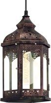 EGLO Vintage - Hanglamp - 1 Lichts - Koperkleurig - Helder Glas