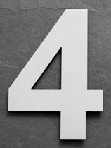 Grote RVS Huisnummers | Hoogte 25cm XXL Nummer 4