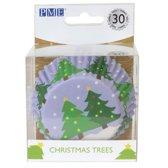 PME Cupcakevormpjes Sneeuw en Kerstbomen pk/30