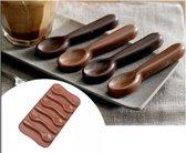 Chocolade vorm Lepel - siliconen vorm mal voor ijsblokjes ijsklontjes chocolade fondant  chocoladevorm - LeuksteWinkeltje