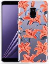 Samsung Galaxy A8 2018 Hoesje Flowers