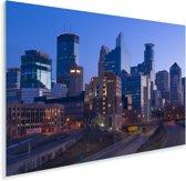 De skyline van het Amerikaanse Minneapolis Plexiglas 30x20 cm - klein - Foto print op Glas (Plexiglas wanddecoratie)
