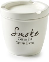 Rivièra Maison Smoke Gets In Your Eyes Ashtray - Asbak - Wit