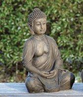 Buddha - Zwart/Bruin - 30 cm - Buiten - Binnen
