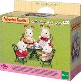 Sylvanian Families 4507 Sierlijke Tuintafel & -Stoelen  - Speelfigurenset