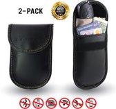 2Pack Autosleutel Etui RFID Bescherming Anti-Diefstal hoesje Signaal Blokkerende Beschermhoes Keyless Entry en Keyless Go Beveiliging