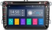 Carplay 2-din Navigatie Autoradio iPhone en android auto met bluetooth