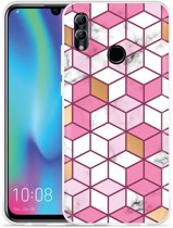 Huawei Honor 10 Lite Hoesje Pink-gold-white Marble