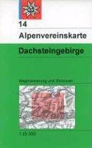 DAV Alpenvereinskarte 14 Dachstein 1 : 25 000 Wegmarkierungen und Skirouten