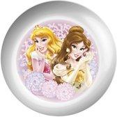 Disney Bordje Princess Melamine 22 Cm Wit