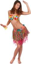 Korte Hawaii rok met bloemen volwassenen - Volwassenen kostuums