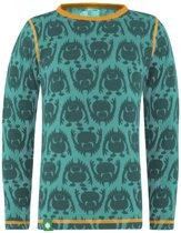 Monster shirt merino wol - groen