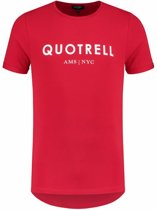 QUOTRELL Brand Tee Red/White