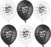 "Ballonnen ""Happy Birthday"" 30CM (12ST)"