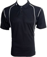KWD Poloshirt Victoria korte mouw - Zwart/wit - Maat XXL
