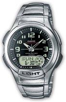 Casio horloge AQ-180WD-1BVES - 41 mm - Staal - Zilverkleurig