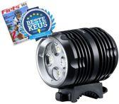 LED247 BT40S - Koplamp Fiets - LED - 1600 Lumen - Accu - Zwart