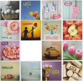 Verjaardagskaarten en Assortie Wenskaarten - Set van 15--L-033