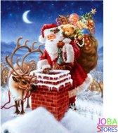 """Diamond Painting """"JobaStores®"""" Kerstman Schoorsteen - volledig - 40x50cm"""