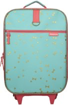 Kidzroom Open your Eyes Kinderkoffer Unisex - Mint - Luxe Trolley