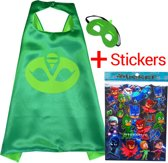 PJ Masks Gekko Cape + Masker + Stickers | Pyjamahelden Verkleedkleren superhelden KMSC021