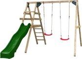 Swing King speeltoestel hout met glijbaan Celina 330cm - groen