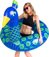 Pauw Pool Float -  Peacock Pool Float – Big Mouth grote opblaas zwemband -  122 cm.