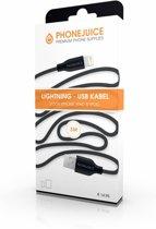 Hoge kwaliteit 3 meter lange iPhone 5 / 6 / 7 / 8 / X / iPad lightning kabel – Zwart