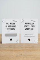 Kraskaart - Zwanger - 3 stuks - Prints Charming