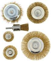Staalborstelset 6-delig voor op Boormachine | Verschillende Afmetingen