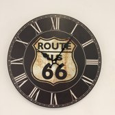 WANDKLOK USA ROUTE 66 VINTAGE RETRO