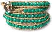 Wrap armband Cinco Turquoise