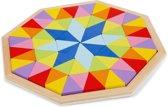 New Classic Toys - Vormenpuzzel - Octogan Puzzel - 72 Driehoekige Houten Blokken