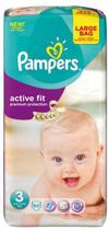 Pampers Active Fit - Maat 3 Jumbopak 62 st.