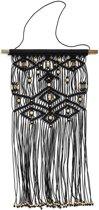 Muurdecoratie kralen zwart 80x40