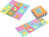 Puzzelmat - Speelmat Baby - Speelkleed - Foam Puzzel Mat - Fruit Design - 29,5cm x 29,5cm - 10 stuks