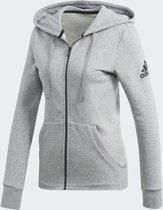adidas Essentials Solid FZ Hoodie Vest Dames - Medium Grey Heather