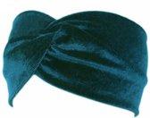 Velvet Suede Haarband Trendy - Turquoise