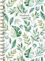 Leaves Notebook A6 - Lijn