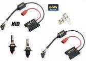H7cr 8000K Xenon Slim Ballast HID inbouw Set & Gratis Led T10
