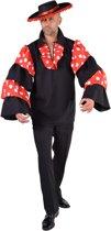 Spaans & Mexicaans Kostuum   Blouse Spaanse Flamenco Gitarist Man   Medium   Carnaval kostuum   Verkleedkleding