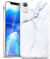 iPhone XR bumper hoesje - ESR Vogue - Marble / Marmer - Wit/zwart