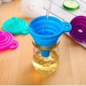 ForeverKitchen® - Opvouwbare Siliconen Trechter - Inklapbaar handig keuken hulp tool - blauw